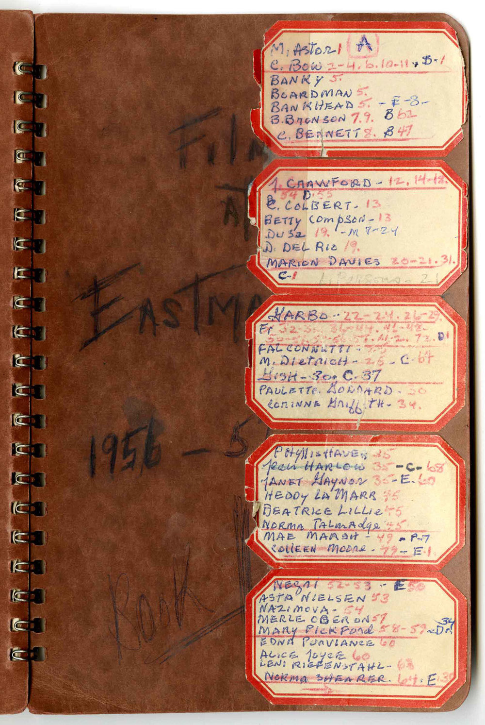 Indexed cover of Brooks' journal, found here