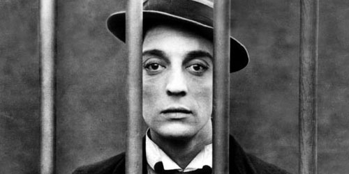 Buster Keaton in a publicity still for his film  Cops (1922)