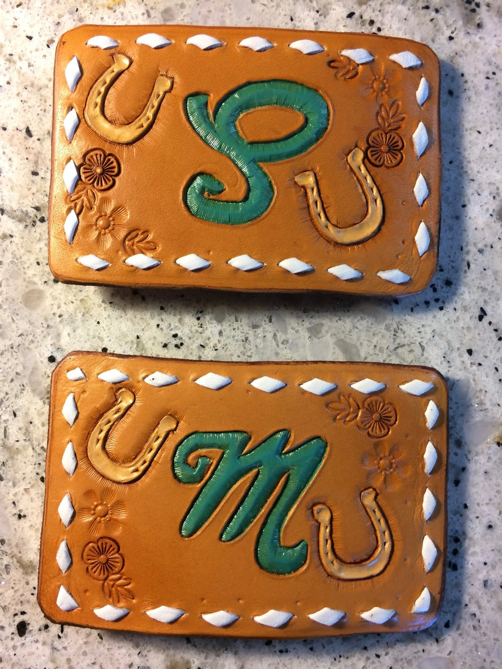 Custom Initial Belt Buckles