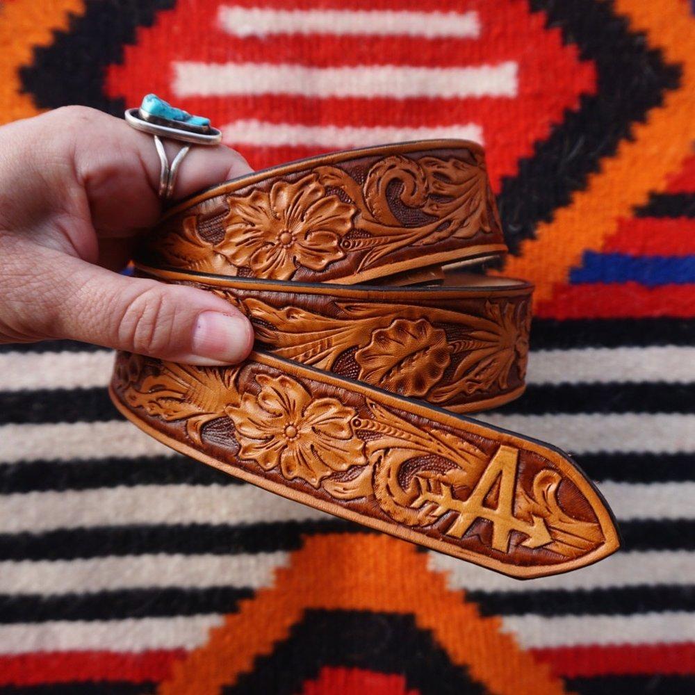 Custom Sheridan Style Belt with Brand