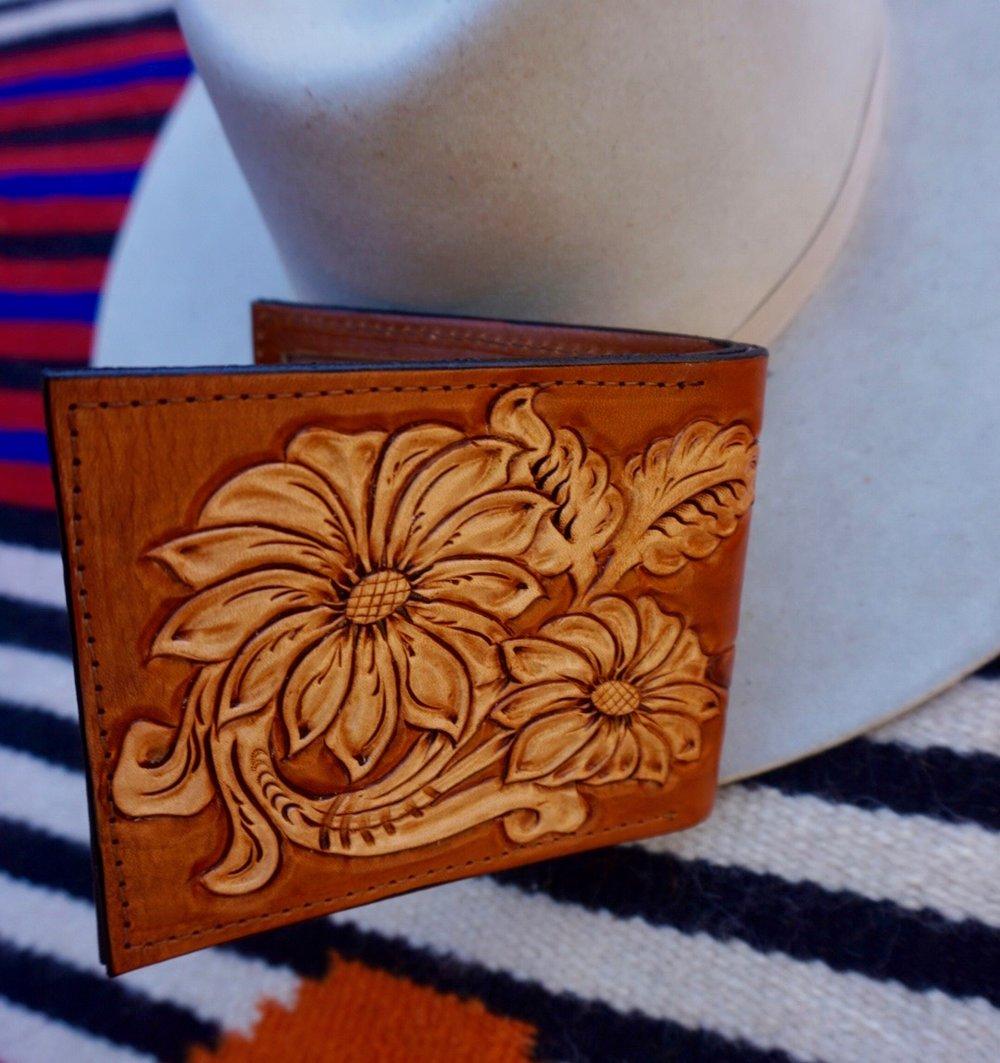 Backside of a Custom Bifold Wallet