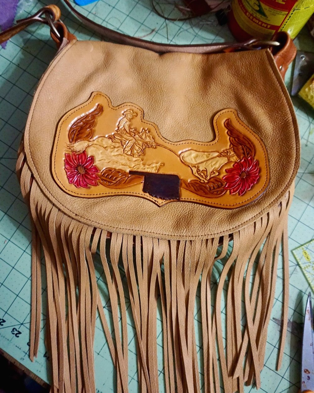 Custom Steer Roping Purse