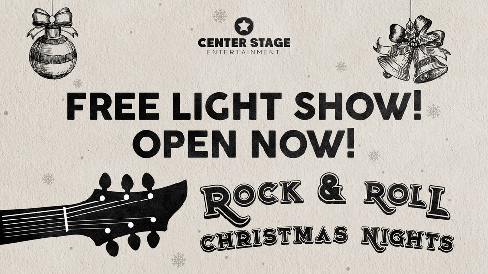 center stage christmas lights rock and roll