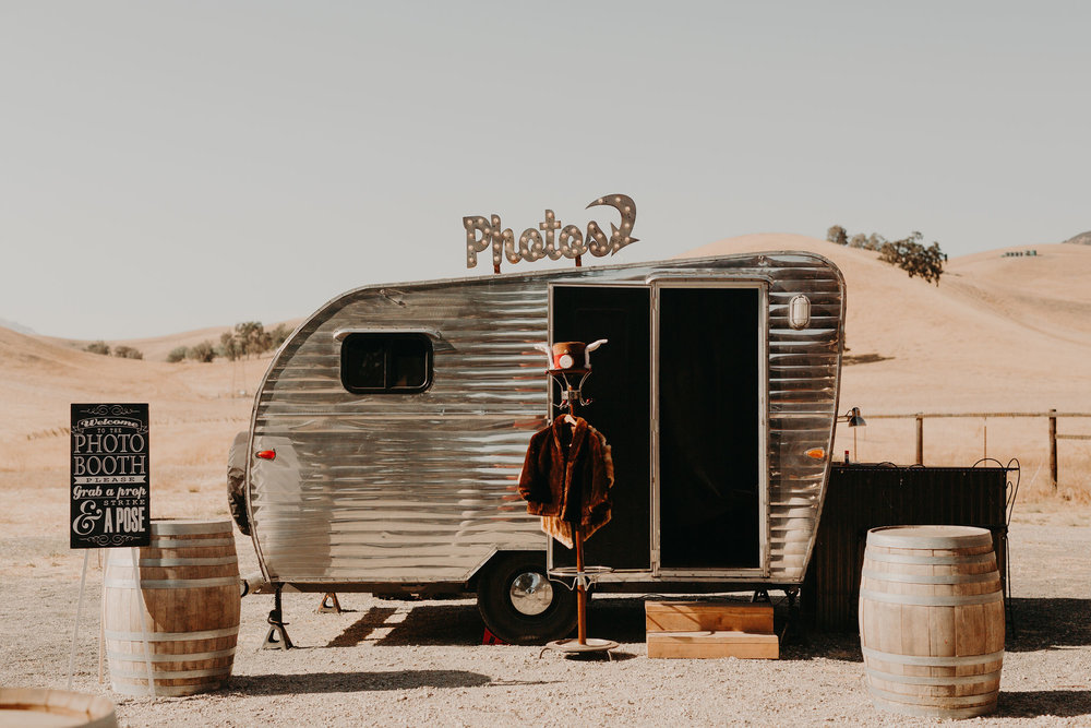 Northern California Vintage Camper Photo Booth Livermore