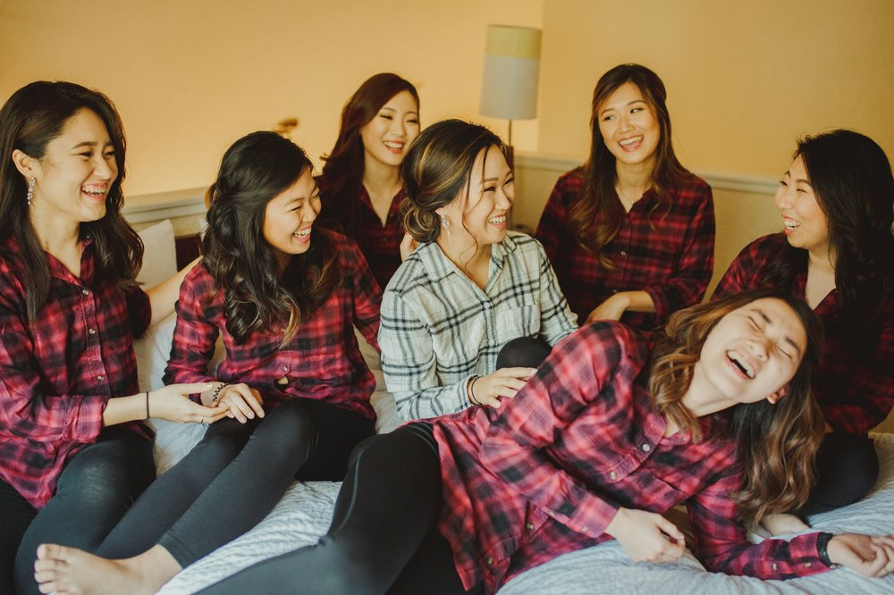 Jamison Brown House Wedding - Flannel Tee Bridesmaids