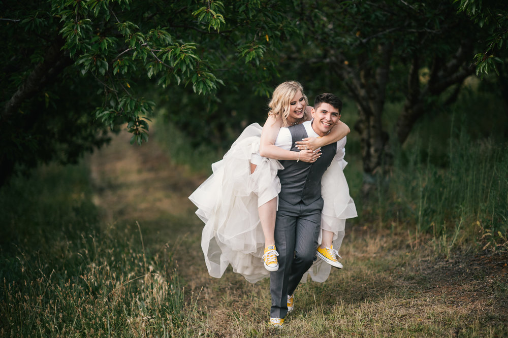 Converse + Wedding Dress