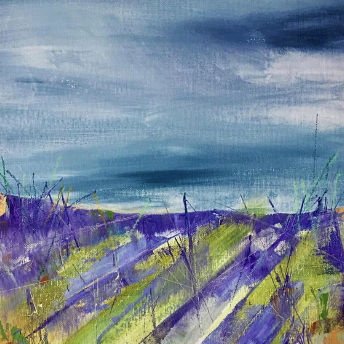 Lavender Fields  -  Acrylic on canvas  - Rachel Arif