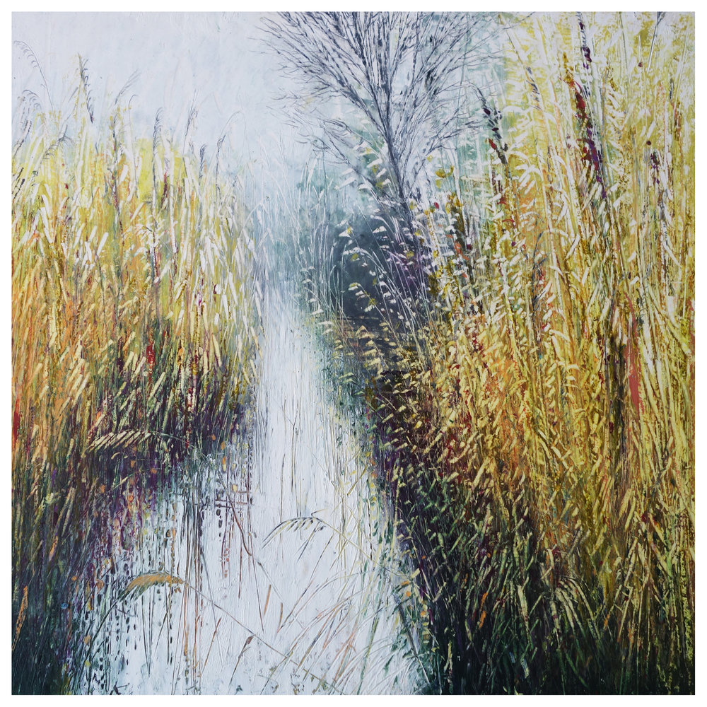 £75 Last Days Summer  - oil pastel and pencil - Lyz Gardner