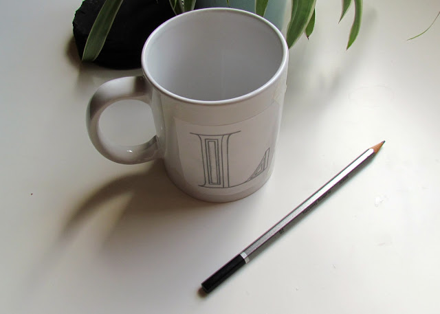 DIY Anthropologie Monogram Mugs by Isoscella