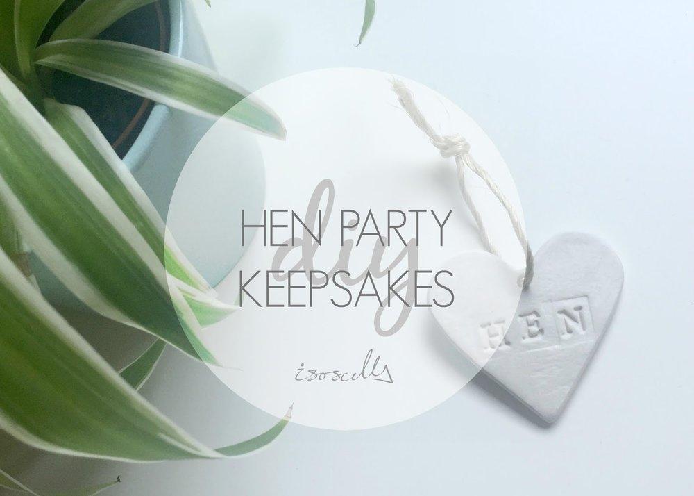 DIY Hen Party Keepsakes by Isoscella