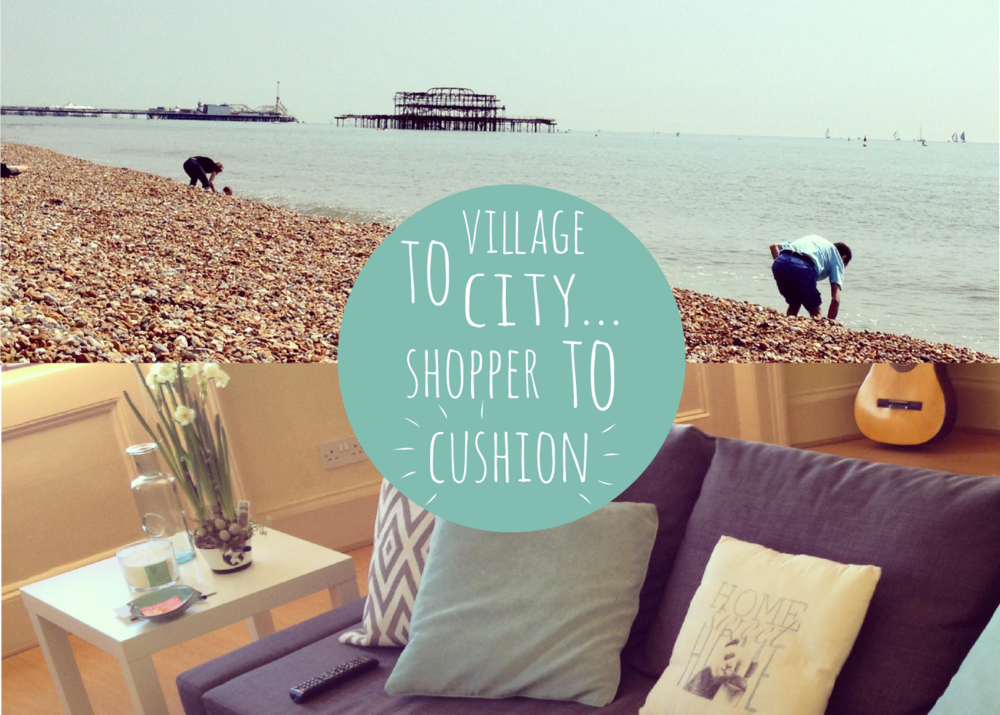 Village city shopper cushion header