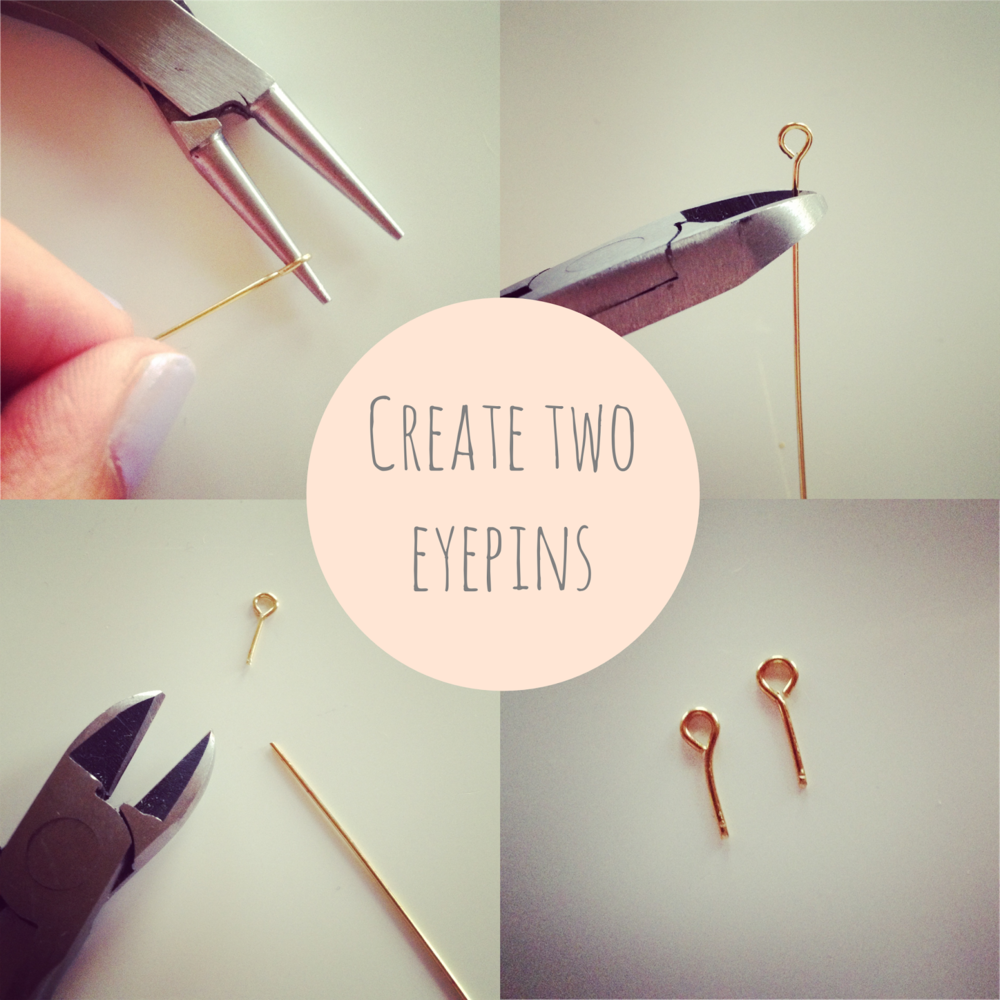 Jewellery making eyepins