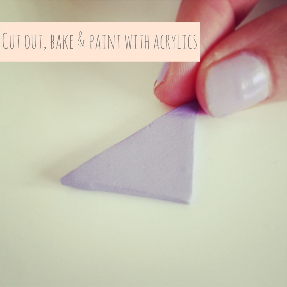 Triangle polymer clay acrylic paint