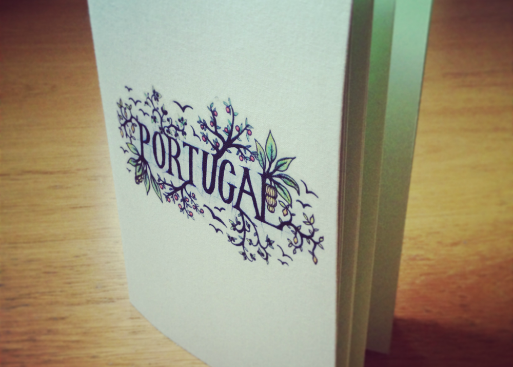 Handmade book with handmade portugal illustration