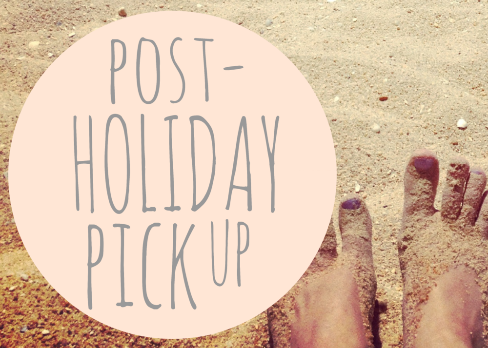 Post-holiday pick up header feet beach