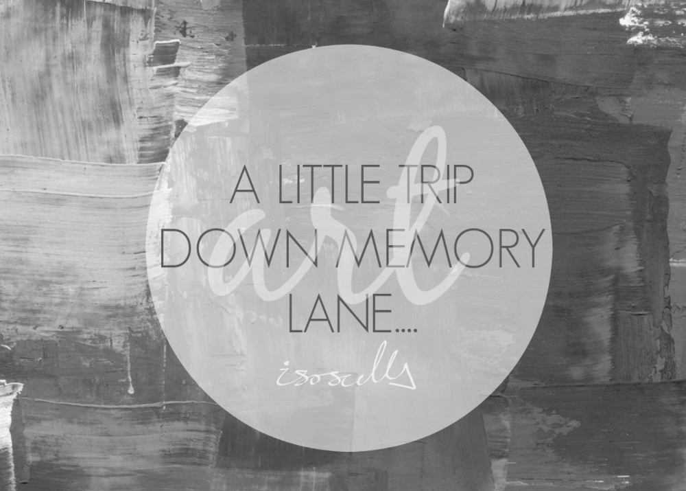 A little trip down memory lane by Isoscella
