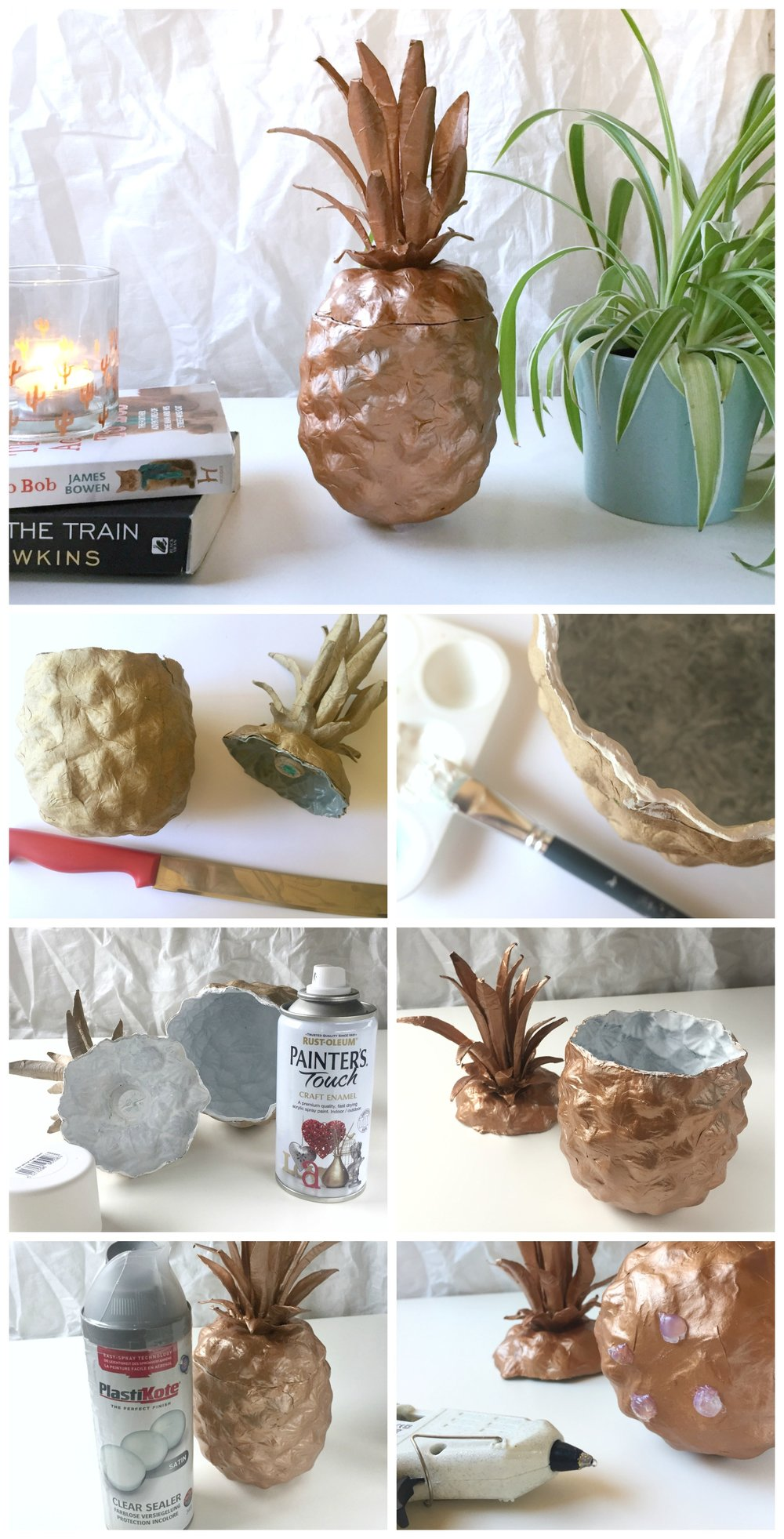 DIY Copper Pineapple Storage Pot by Isoscella