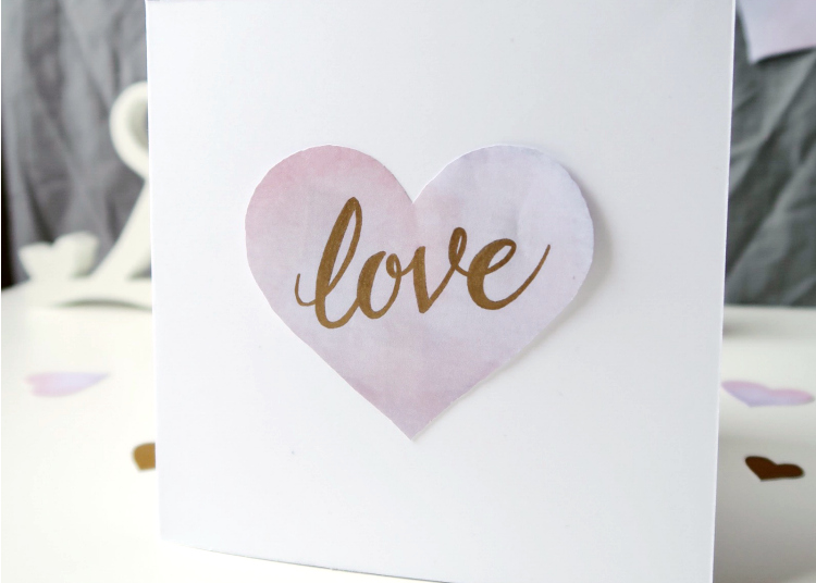 Watercolour Hearts DIY by Isoscella