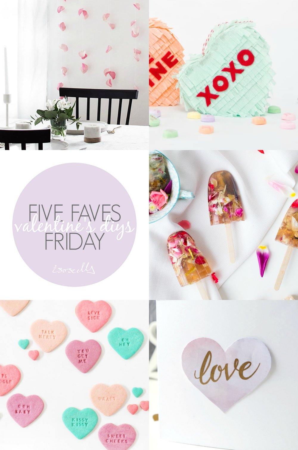 Five Faves Friday // Valentine's DIYs on Isoscella