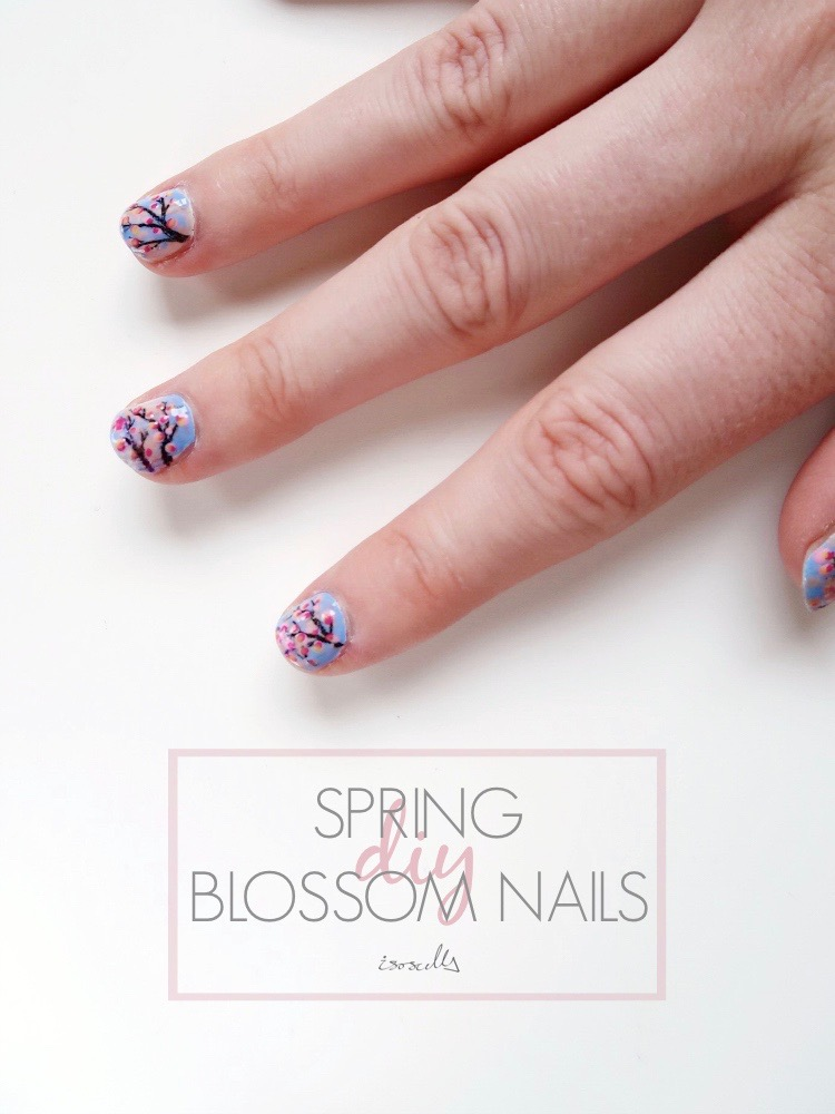 DIY Spring Blossom Nails by Isoscella