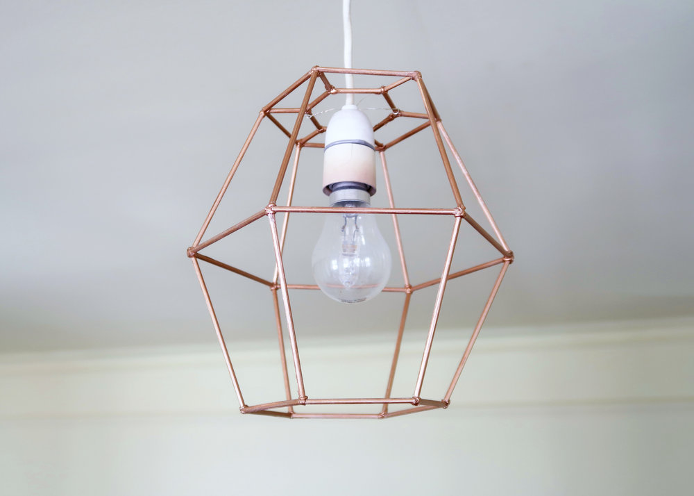 DIY Geometric Light Shade by Isoscella