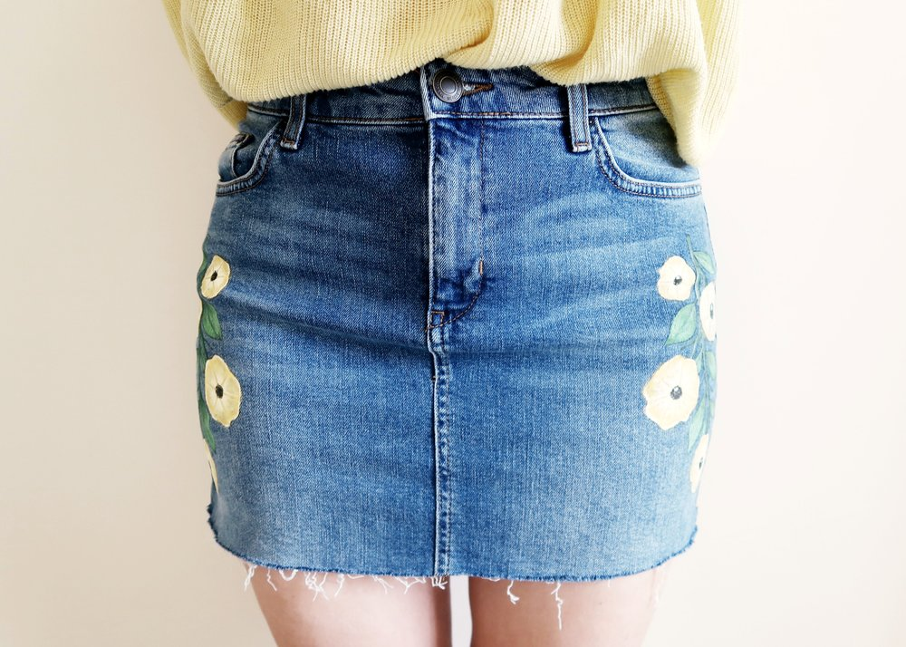 DIY Topshop Inspired Denim Skirt by Isoscella