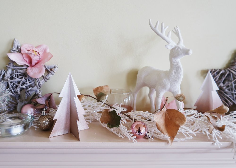 DIY Paper Christmas Tree Decor by Isoscella