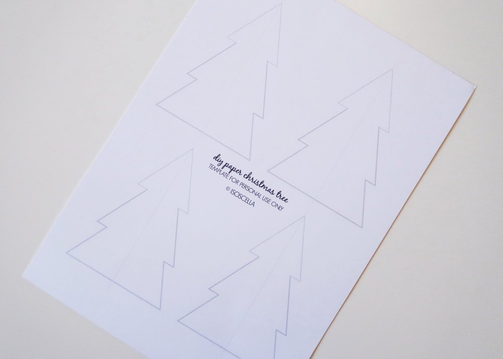DIY Paper Christmas Tree Printable by Isoscella