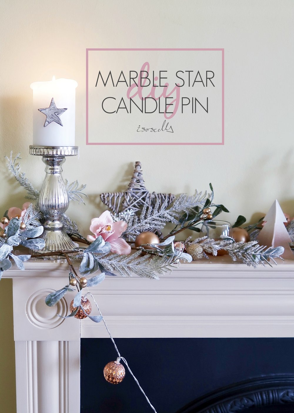 DIY Marble Star Clay Pin by Isoscella