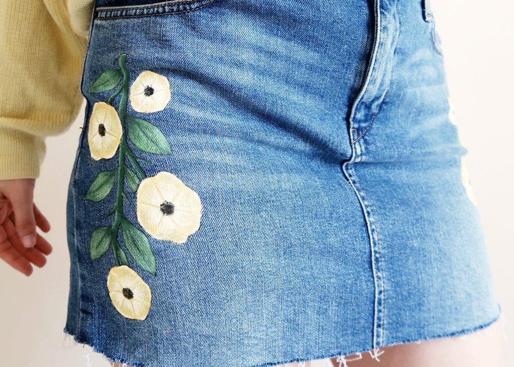 DIY Topshop-inspired Denim Skirt by Isoscella