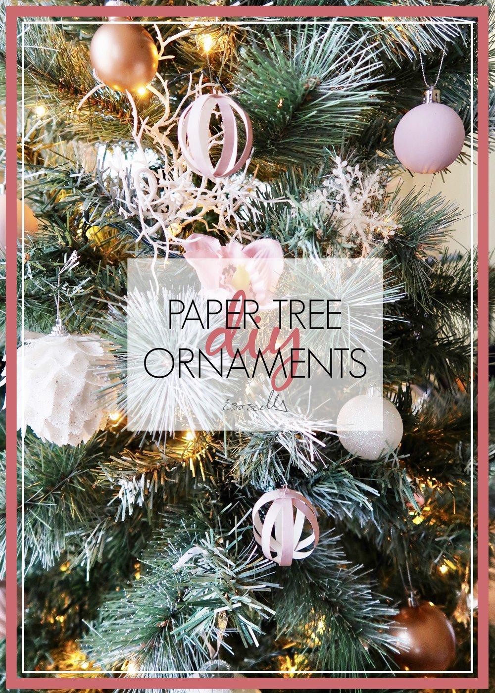 DIY Paper Tree Ornaments by Isoscella