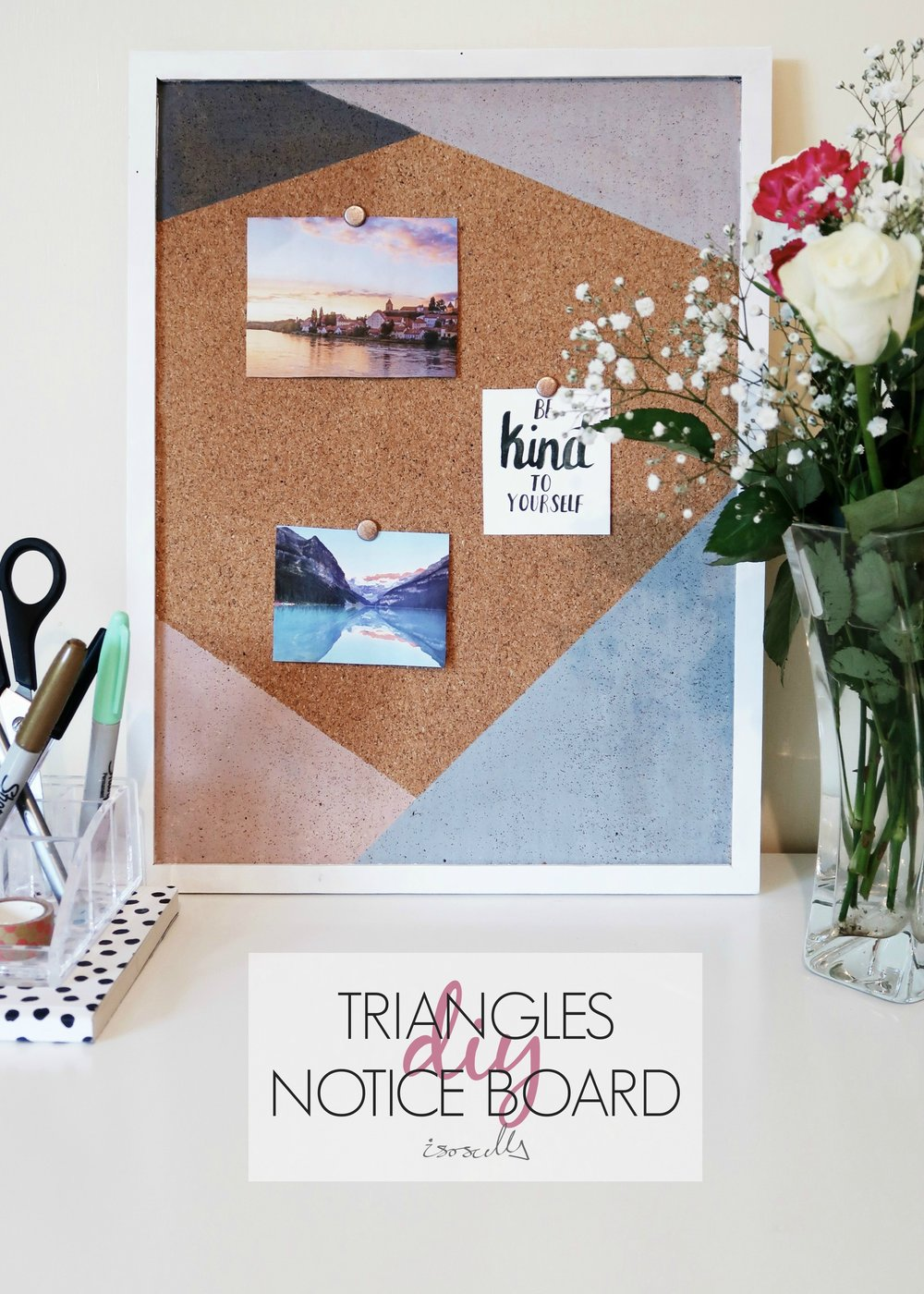 DIY Triangles Noticeboard by Isoscella