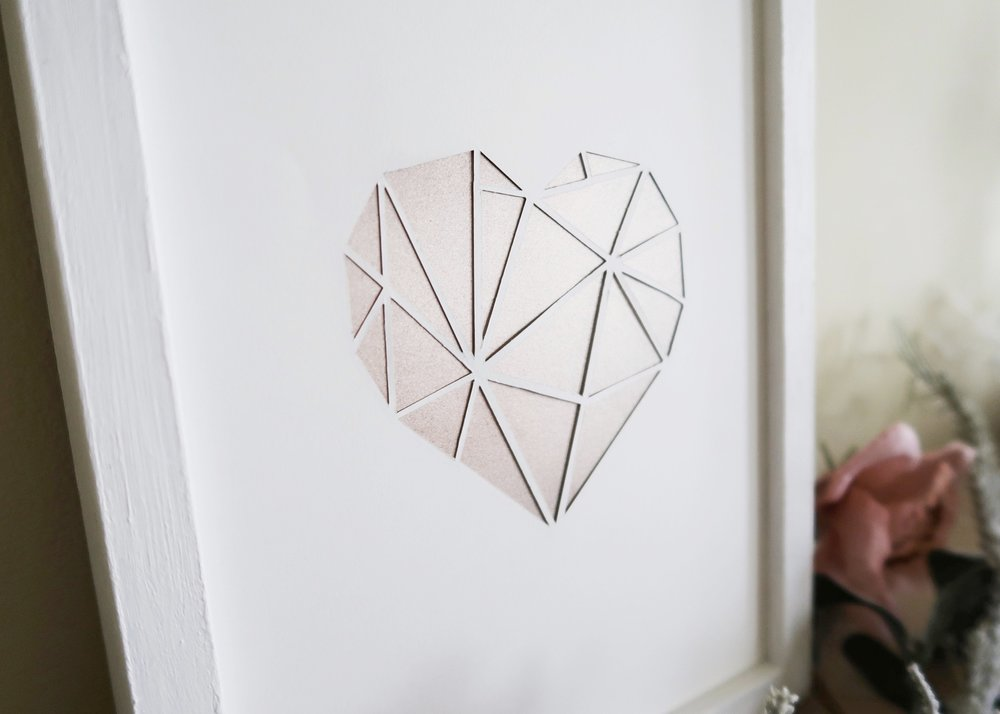 DIY Paper-cut Heart Wall Art by Isoscella