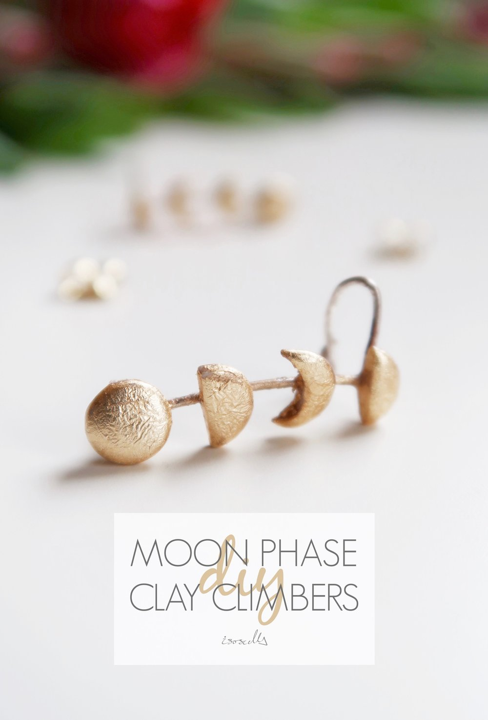 DIY Moon Phase Clay Climbers by Isoscella