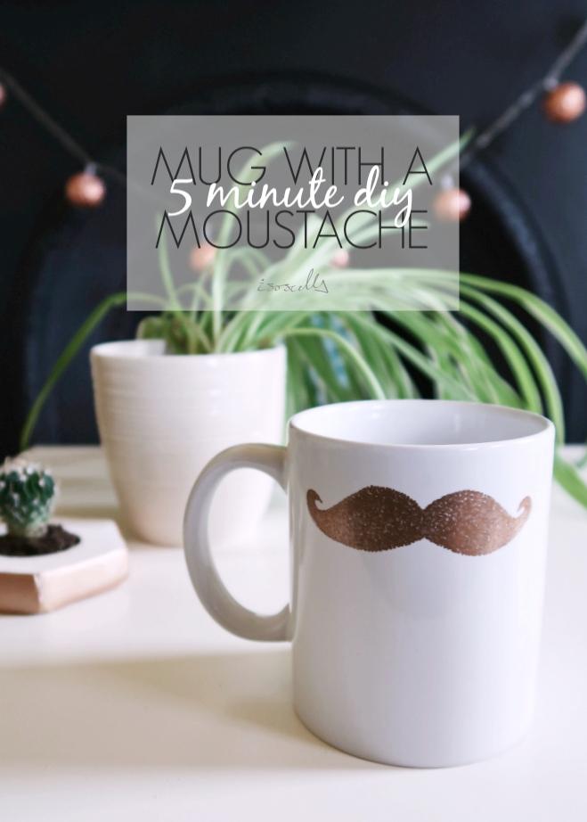 DIY Mug with a Moustache by Isoscella