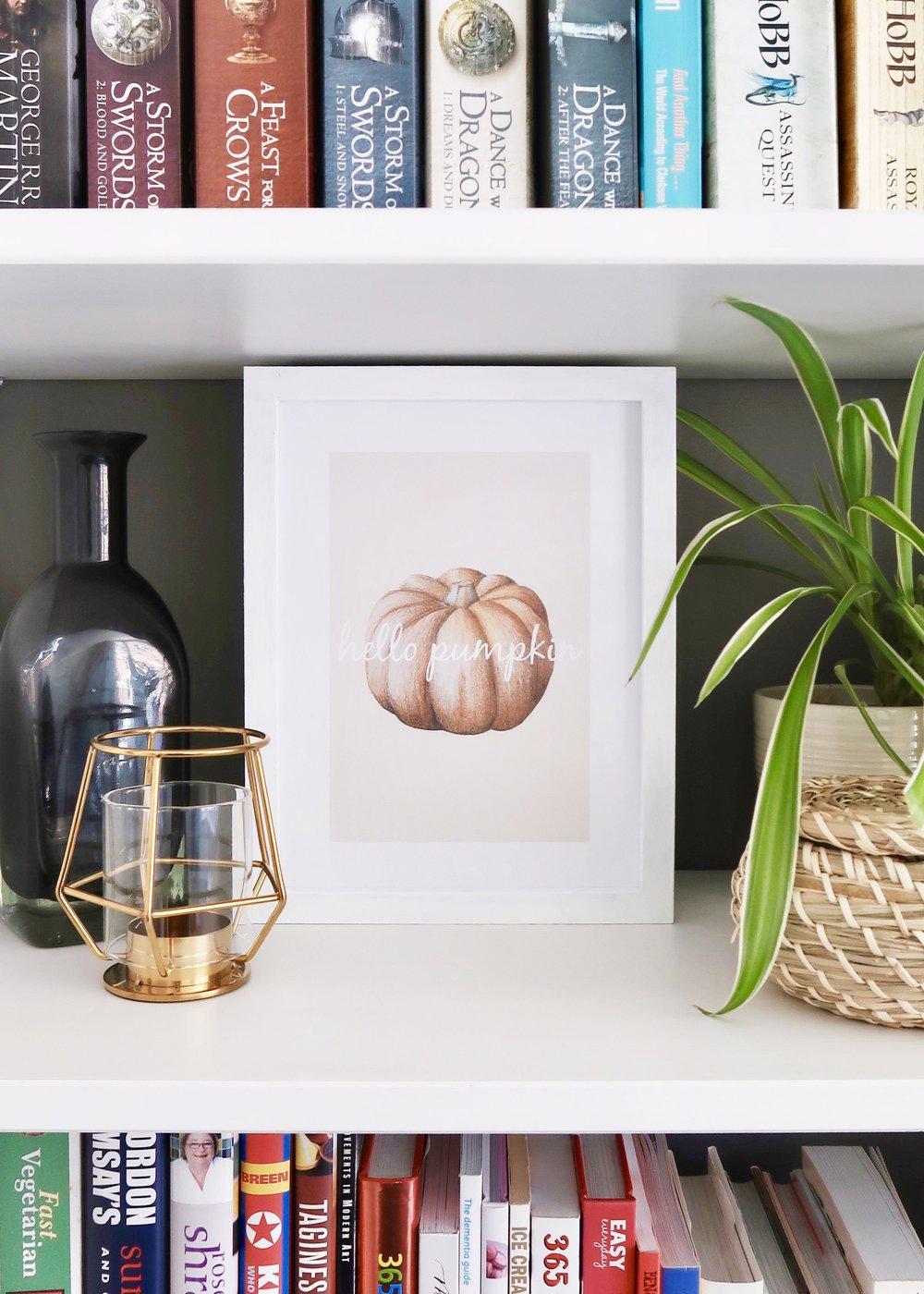 Printable Pumpkin Wall Art by Isoscella