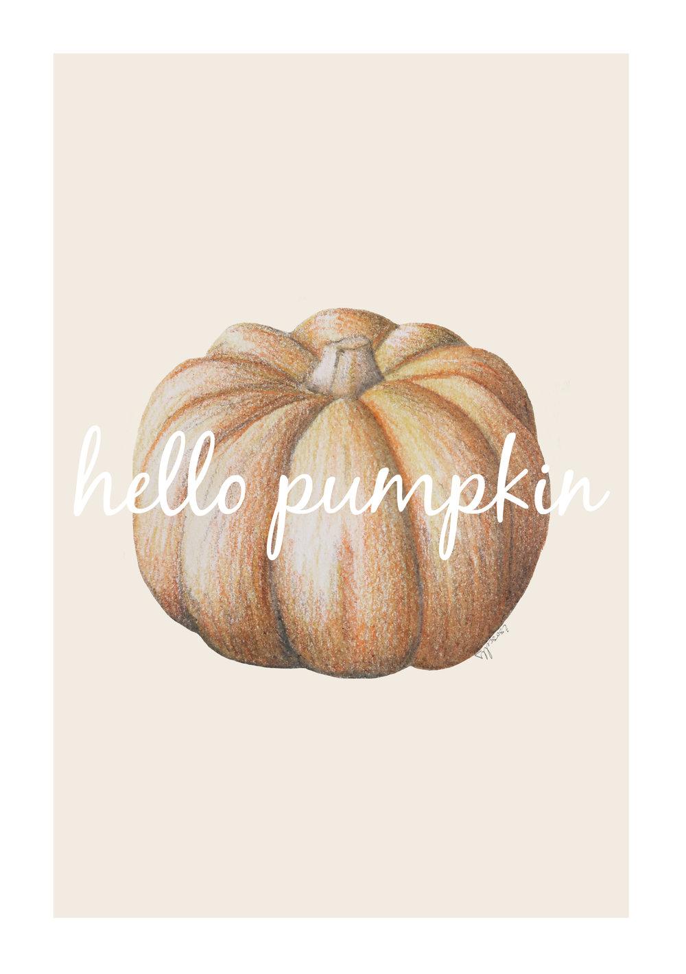 Printable Pumpkin Art Print by Isoscella.jpg