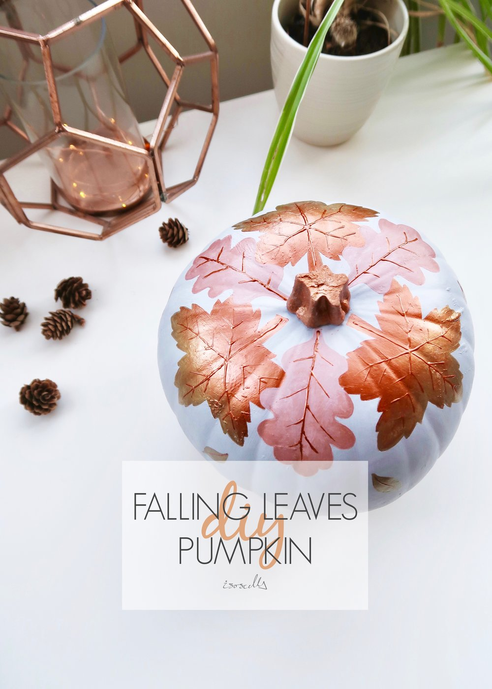 Falling Leaves No-Carve Pumpkin by Isoscella