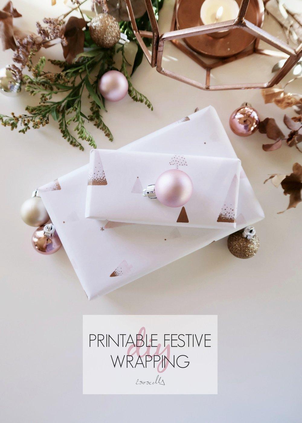 DIY Printable Festive Wrapping by Isoscella