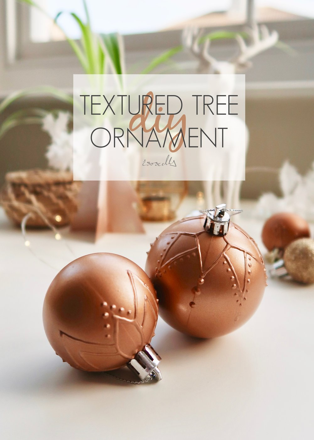 DIY Mandala Textured Tree Ornament by Isoscella