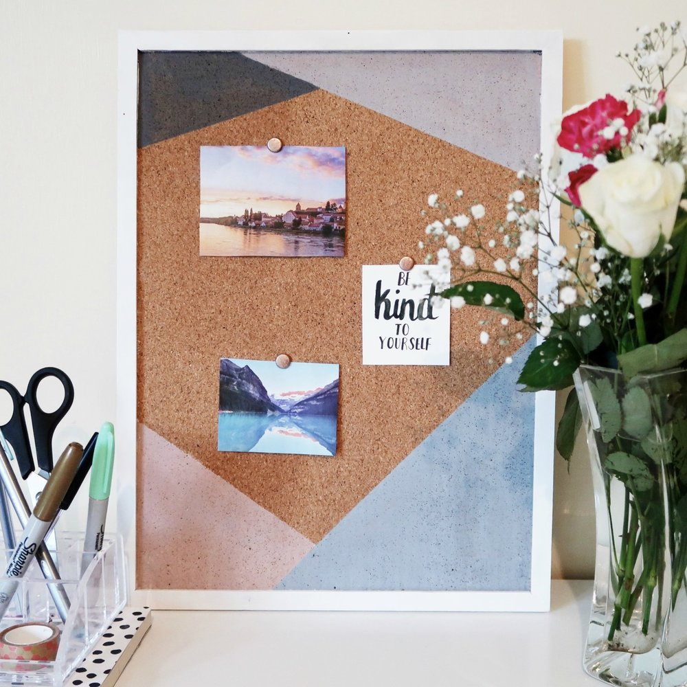7. - DIY Triangles Noticeboard