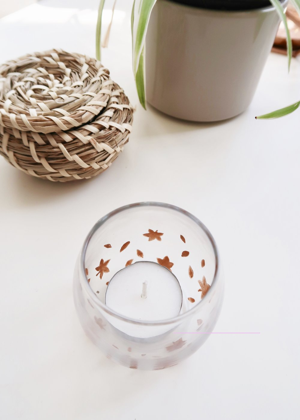 DIY Autumn Leaves Votive by Isoscella