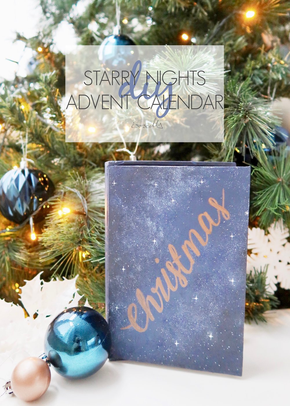 DIY Starry Night Advent Calendar by Isoscella