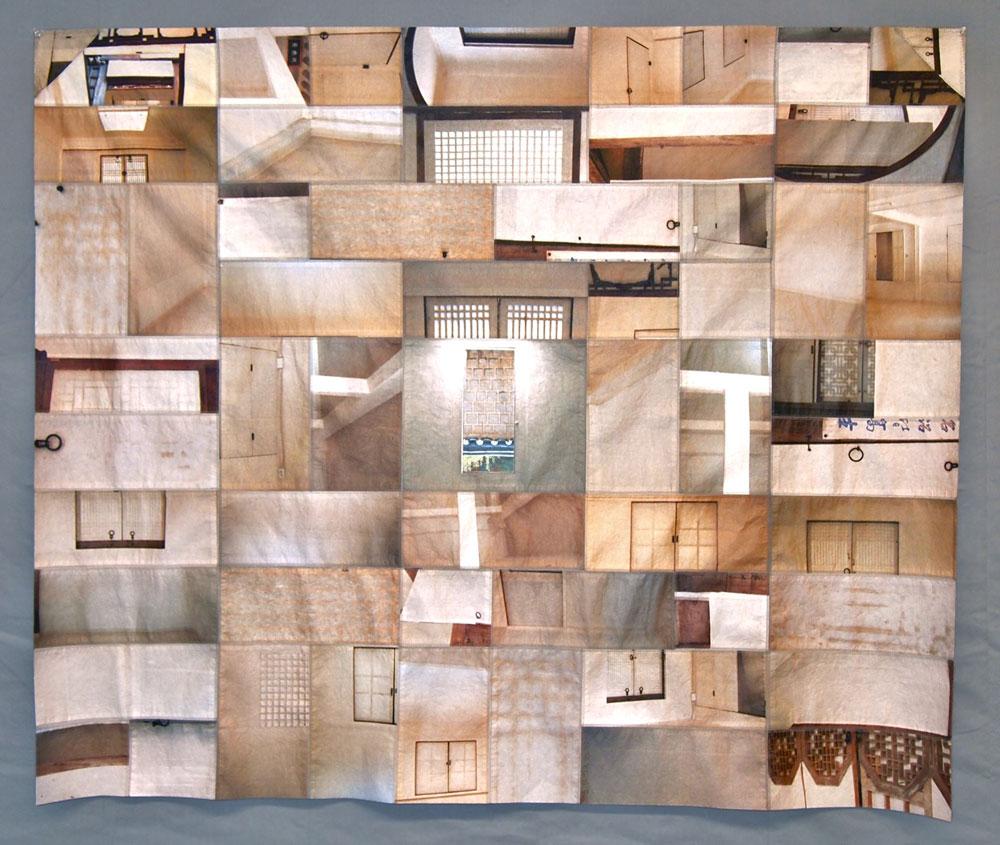 Paper Walls II    2013 digital print on paper, machine stitched