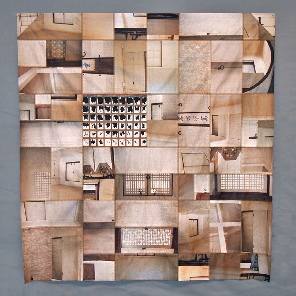 Paper Walls I    2013 digital print on paper, machine stitched