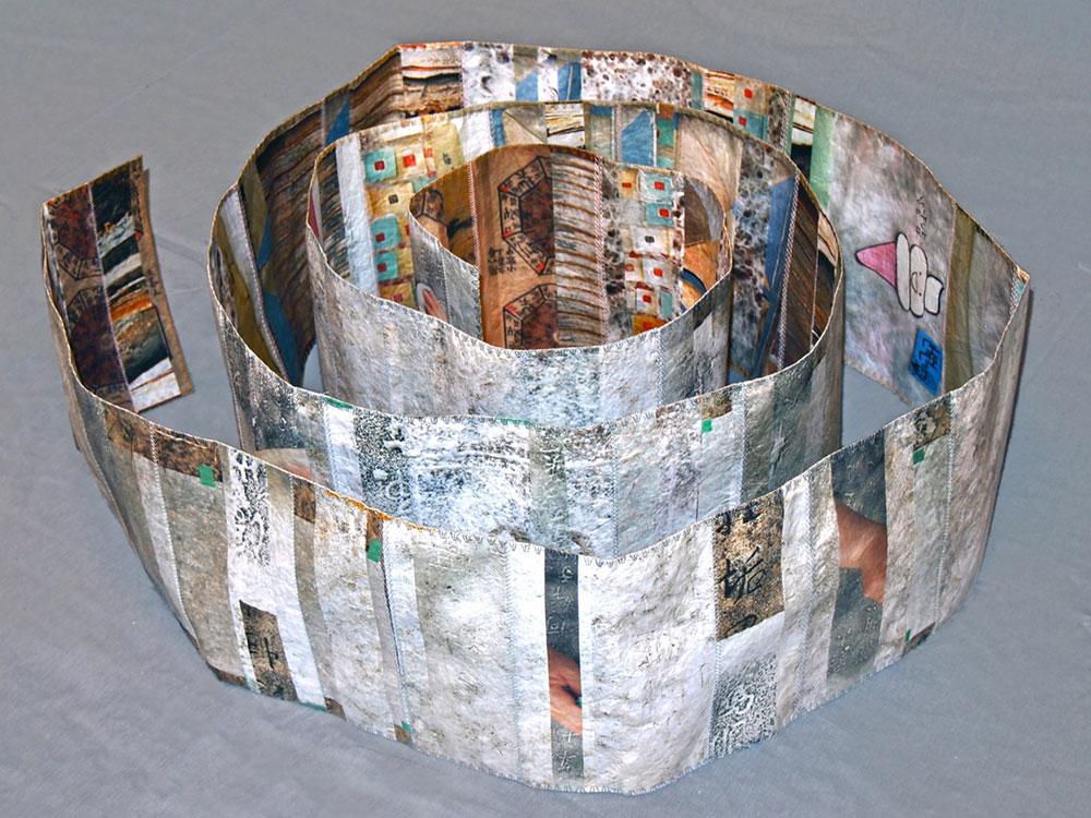 Spiral  2013 digital print on paper, machine stitched