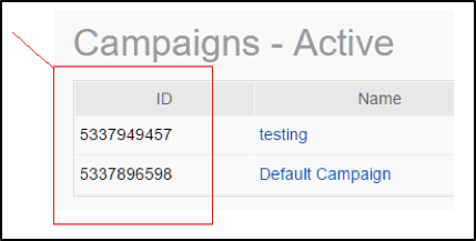 Campaign IDs