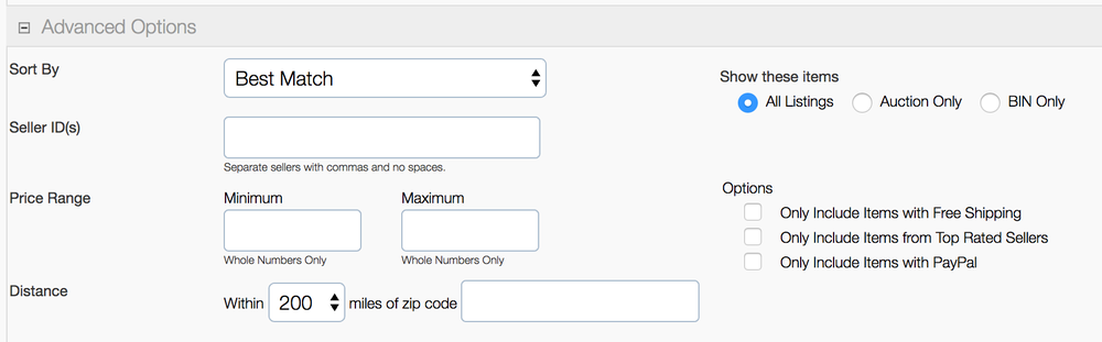 Screenshot der erweiterten Optionen des Custom Banners