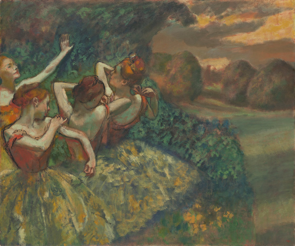 Edgar Degas Four Dancers c. 1899 Painting