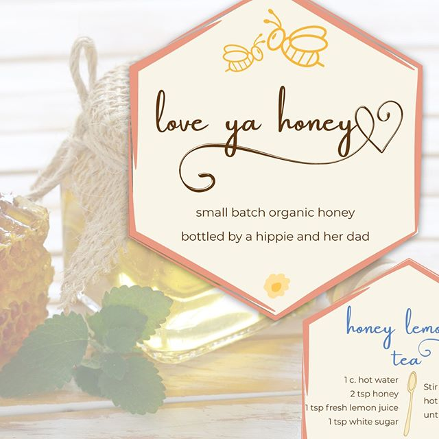 🐝Here is the cute tag I made for the jars of honey that were produced this fall (I posted the moodboard a week or so ago.) 🐝 I was waiting to see the final tag & packaging in person, so I could take a photo, but they're all gone already! I did receive a (tagless) jar of honey from this batch, and it looks like pure amber. It's gorgeous! 🍯 . . . #honey #rawhoney #branding #logodesign #logodesigner #cute #playful #burlap #masonjar #bees #beekeeper #hobbyfarm #buzzbuzz #minneapolisgraphicdesigner